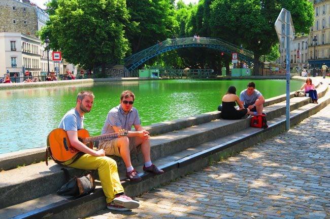 Canal Saint Martin eastern Paris guitar
