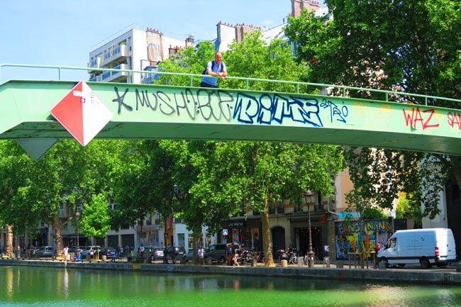 Canal Saint Martin eastern Paris iron bridge