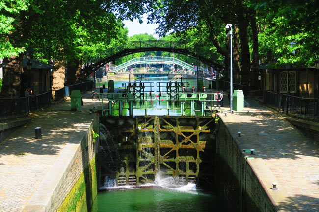 Canal Saint Martin eastern Paris locks