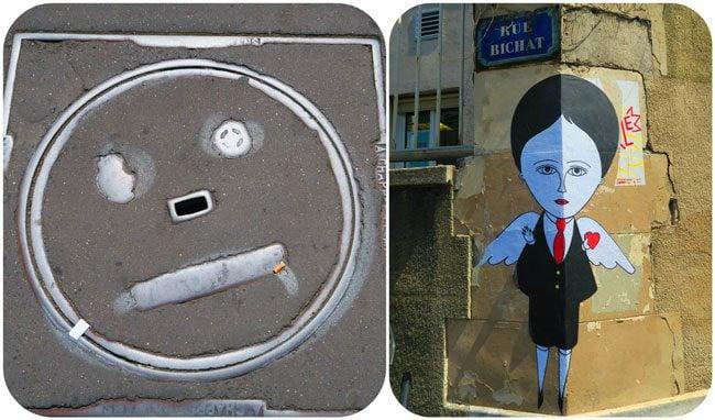 Canal saint martin funky art