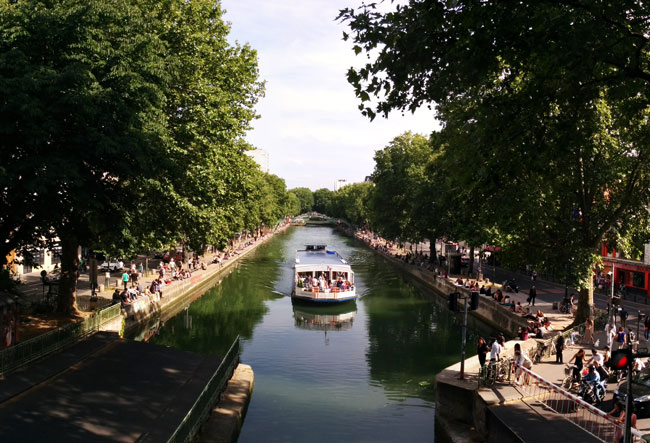 Canal saint martin paris itinerary - panoramic cover