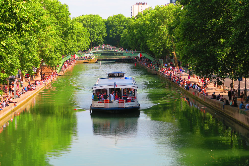 Canal Saint Martin via X days in Y