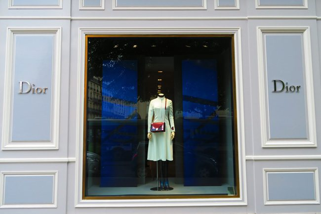 Dior boutique Paris