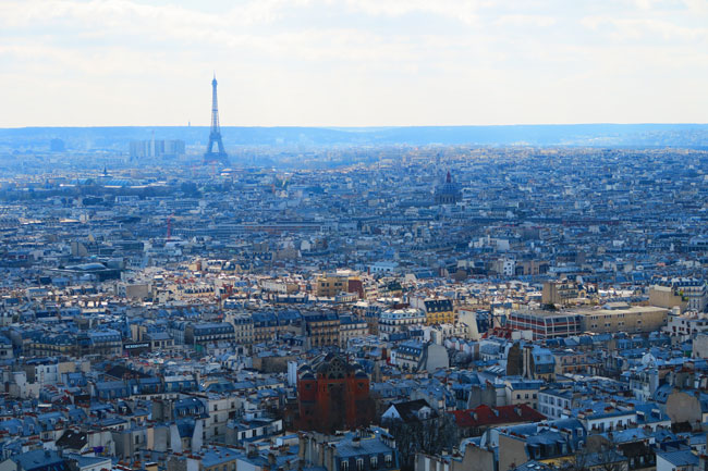 Eiffel Tower from Sacre Coeur Montmartre