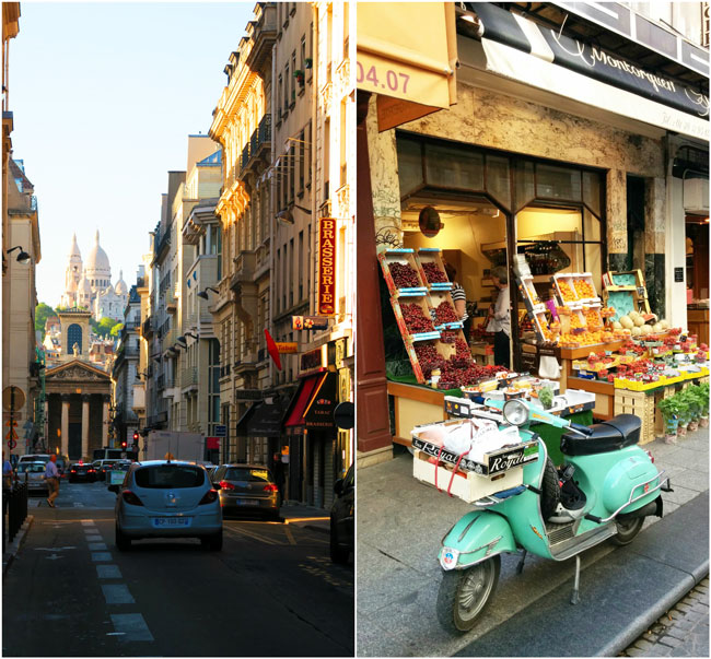 Grands Boulevards Paris view of Montmartre