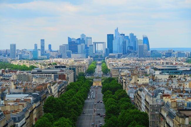 la defense paris from Arc de Triomphe terrace
