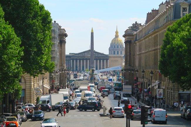 La Madeleine Paris view from stairs