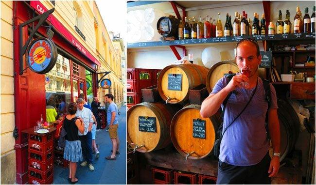 Le Baron Rouge wine bar aligre market paris