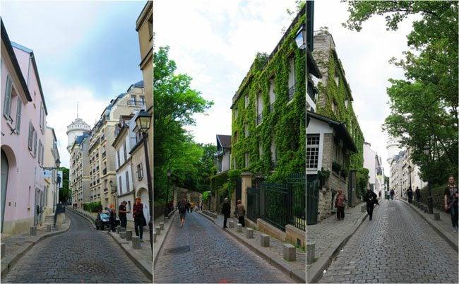 Montmartre cobbelstone lanes Paris