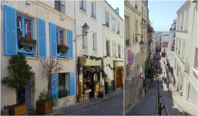 Montmartre Paris stairs and streets