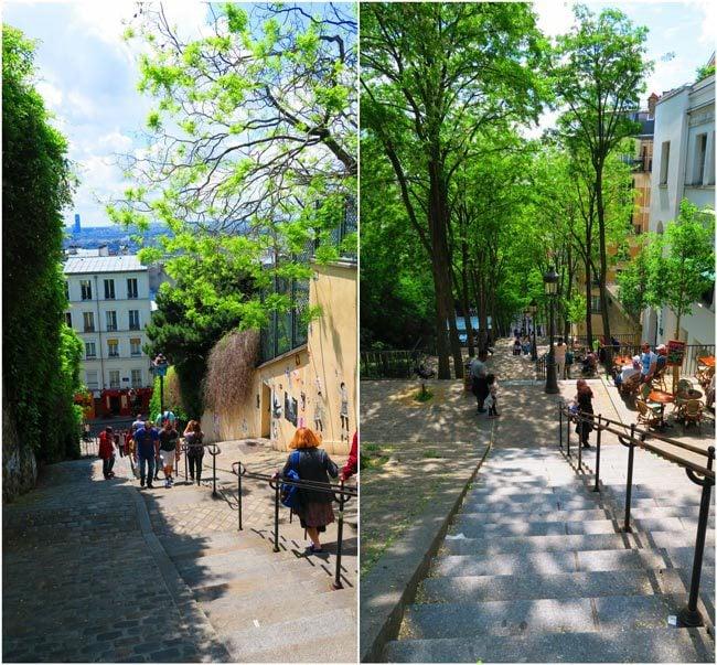 Montmartre staircase Paris