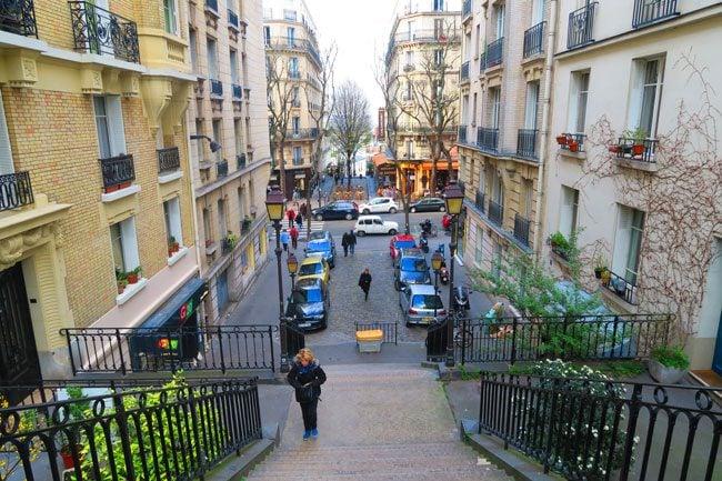 Montmartre stairscase Paris classic
