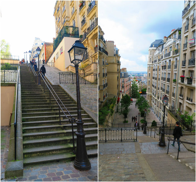 Montmartre stairscases Paris
