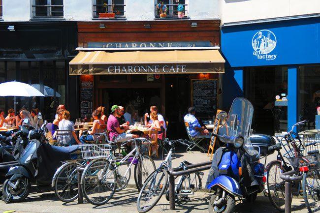 paris cafe bastille area
