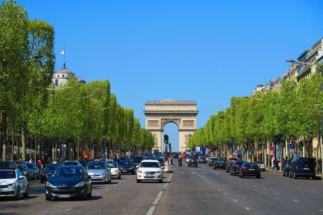 Paris Champs Elysees Arc de Triomphe