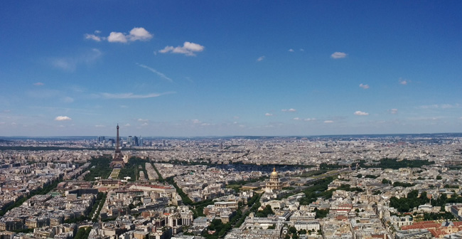 Paris Panoramic view Montparnasse Tower