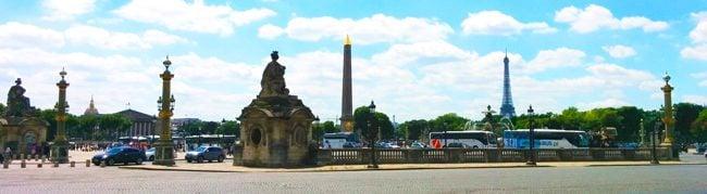 Place de la Concorde Paris panoramic view