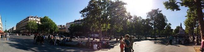 Place de la Republique paris panoramic