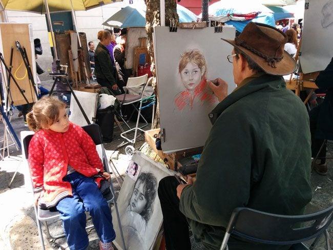 Place du Tertre Montmartre Paris portraits