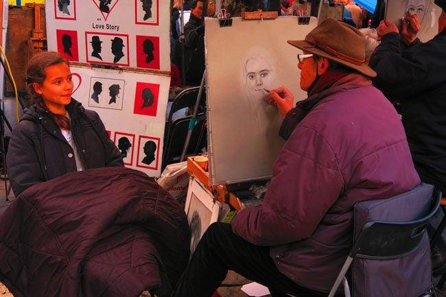 Portrait in Montmartre Paris Place du Tertre