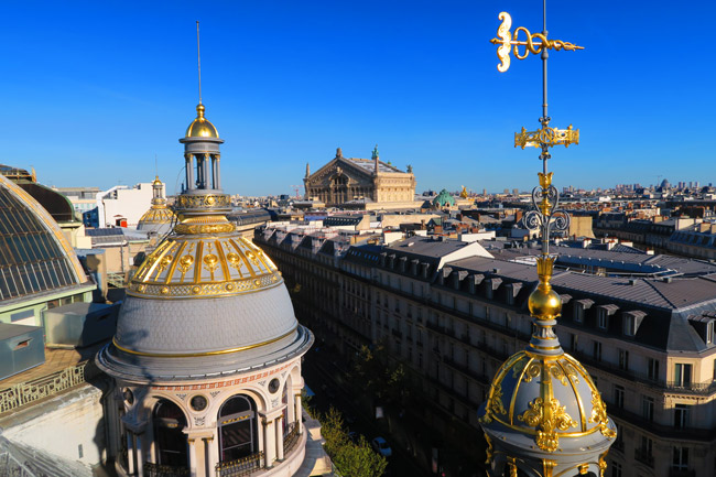 Printemps terrace Paris panoramic view palais garnier