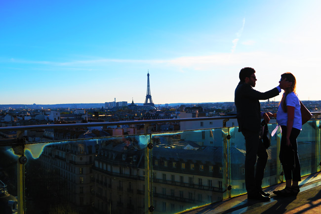 Printemps terrace Paris panoramic view