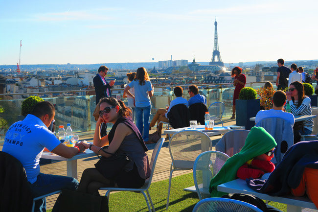 Printemps terrace Paris panoramic view