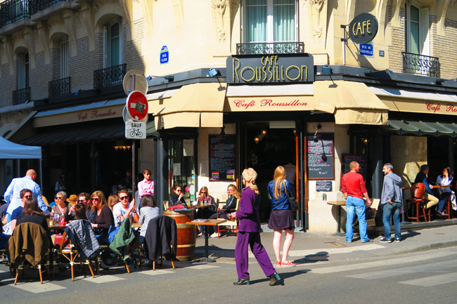 rue cler Paris food market cafe