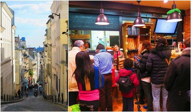 Rue des Abbesses montmartre paris