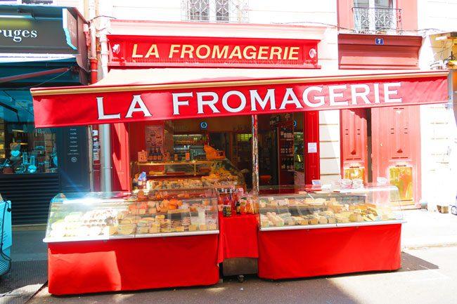 Rue Poncelet parisian food market cheese shop