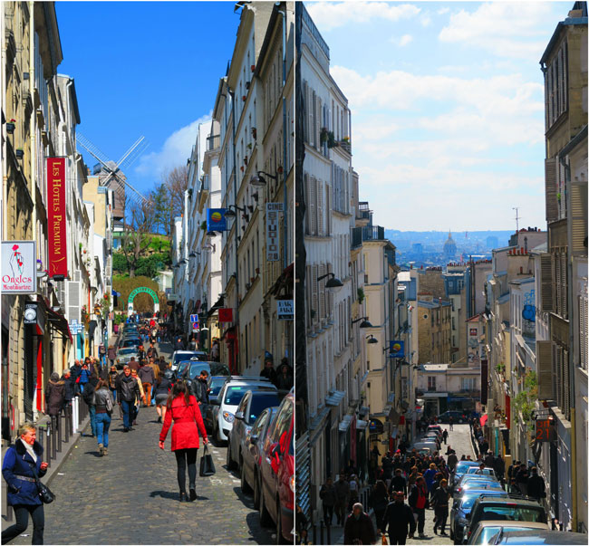 Rue Tholozé montmartre view