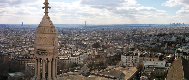 sacre coeur montmartre itinerary - panoramic view