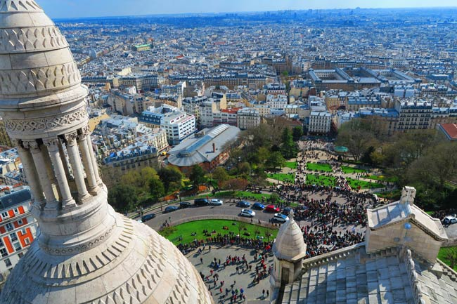 Sacre Coeur Paris view from dome 2