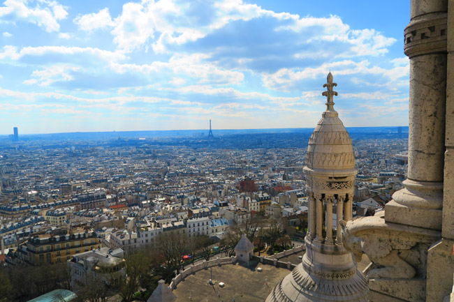 Sacre Coeur Paris view from dome