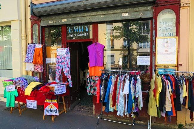 second hand clothes canal saint martin paris