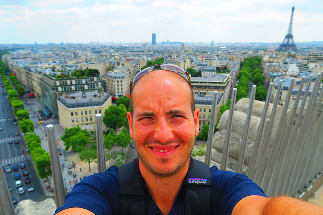 Selfie on Arc de Triomphe terrace