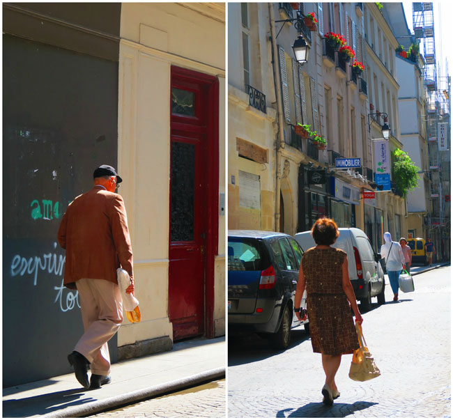Shopping in Rue Montorgueil Paris