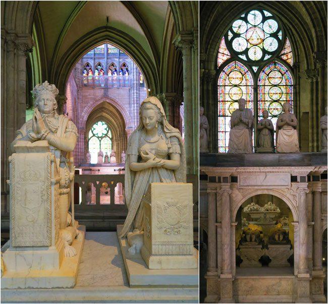 Basilica saint Denis Louis XVI and Marie Antoinette