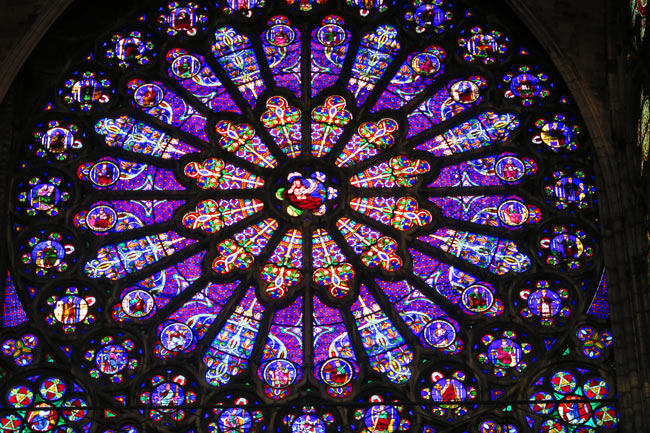 Basilica saint Denis rose window