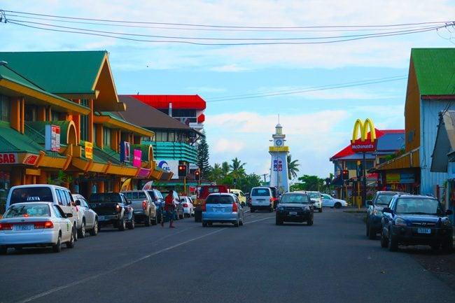 Apia main street Samoa