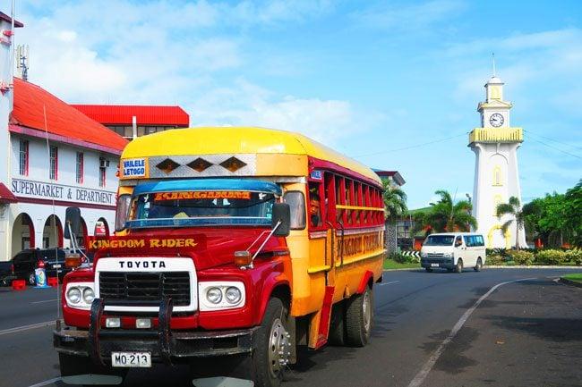 Bus in Samoa