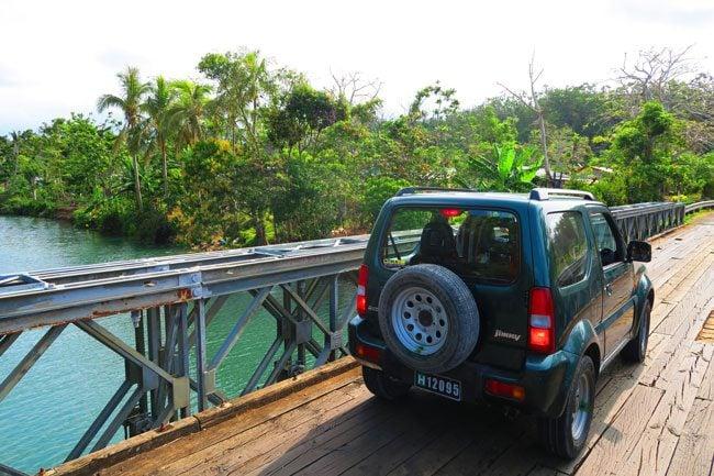 Dricing across river in Efate Vanuatu