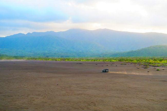 Driving to Mount Yasur Tanna Island Vanuatu