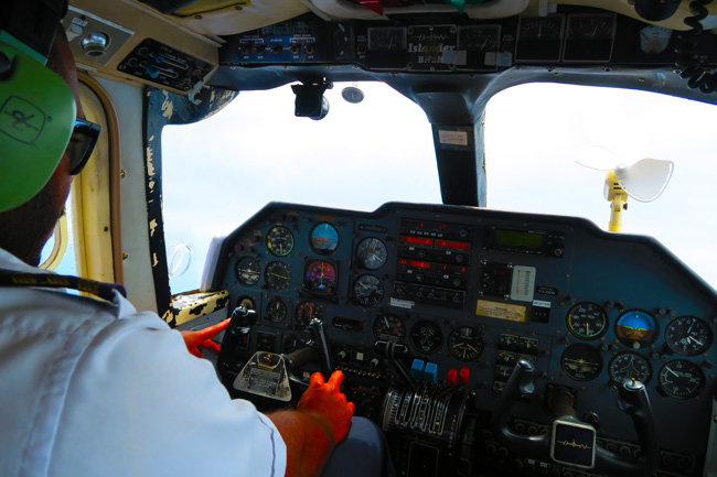 Eight seater plane flying to Tanna Vanuatu