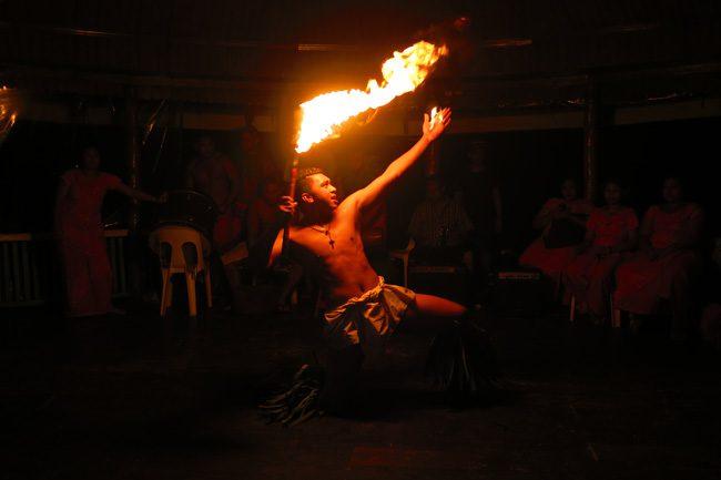 Lalomanu Beach Samoa fire show