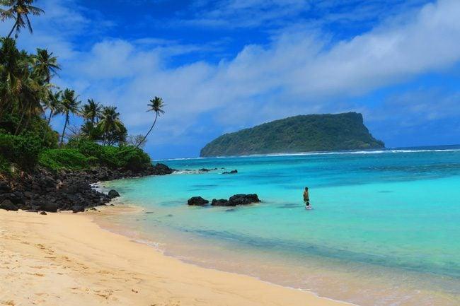 Lalomanu Beach Samoa view