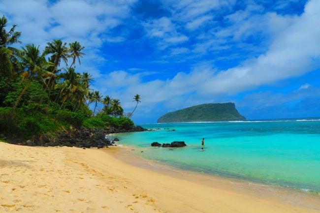 Lalumano tropical beach Samoa
