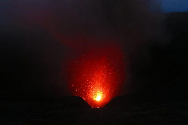 Mount Yasur Volcano Night Lava