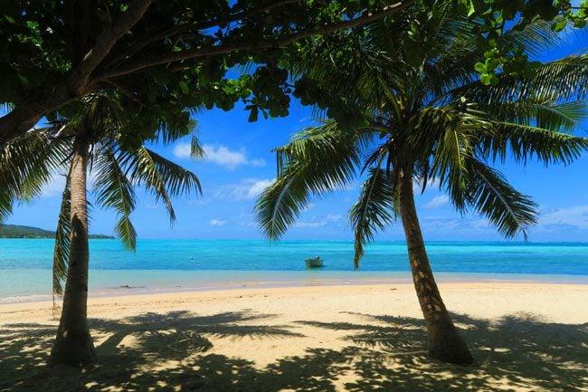 Namua Island Beach fales Samoa
