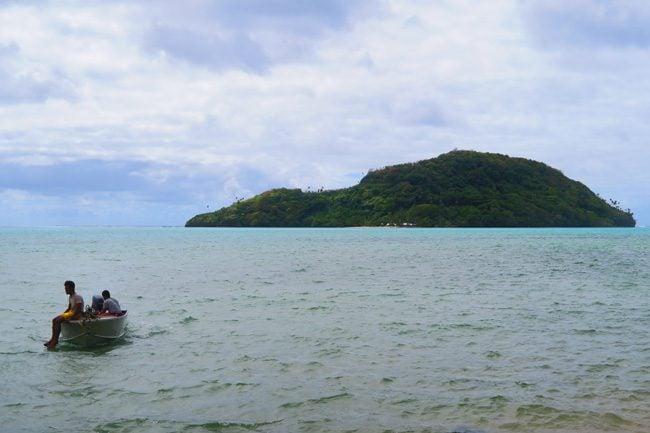 Namua Island Samoa boat picking me up